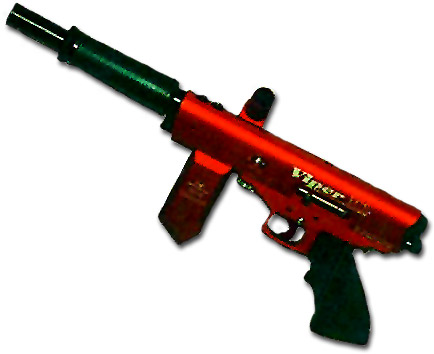 red paintball gun